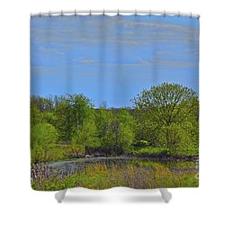 Area Of Cogitation Shower Curtain