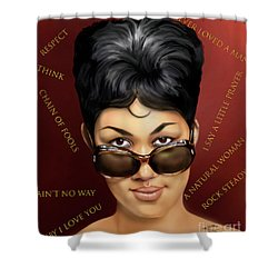 Aretha Franklin Ain't Nothing Like The Real Thing Shower Curtain