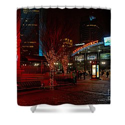 D66l-4 Arena District Photo Shower Curtain