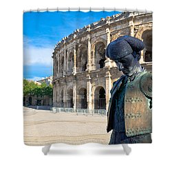 Arenes De Nimes Bullfighter Shower Curtain