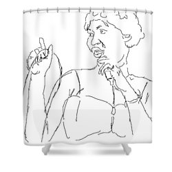Aretha Shower Curtain by Angela Murray