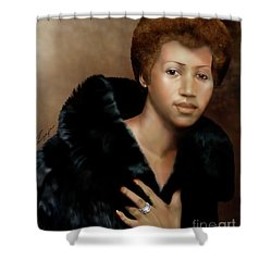 Aretha Franklin Once Upon A Queen Shower Curtain