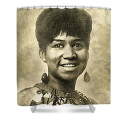 Aretha Franklin Queen Of Soul Shower Curtain