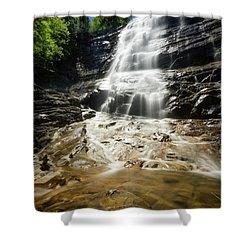 Shower Curtain featuring the photograph Arethusa Falls by Robert Clifford