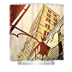 Arezzo's Tower Shower Curtain by Andrea Barbieri