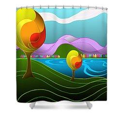Arfordir Iv Shower Curtain