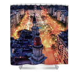 Argentina National Congress Shower Curtain by Bernardo Galmarini