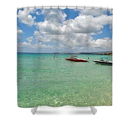 Argostoli Greece Beach Shower Curtain