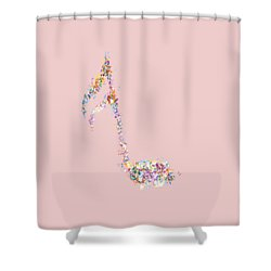 Aria T-shirt Shower Curtain