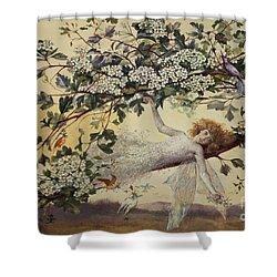 Ariel Shower Curtain by John Anster Fitzgerald