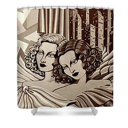 Arielle And Gabrielle In Sepia Tone Shower Curtain by Tara Hutton
