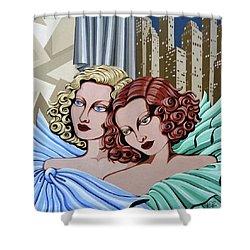 Arielle And Gabrielle Shower Curtain by Tara Hutton