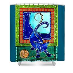 Aries Cat Zodiac Shower Curtain