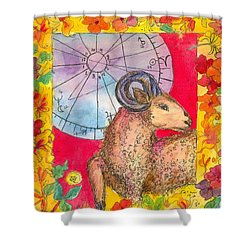 Shower Curtain featuring the painting Aries by Cathie Richardson