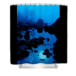 Shower Curtain featuring the photograph Arise From The Fog by Sean Sarsfield