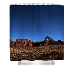 Arizona Landscape At Night Shower Curtain