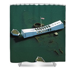 Arizona Memorial Aerial Shower Curtain