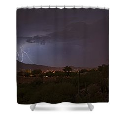 Shower Curtain featuring the photograph Arizona Monsoon Lightning by Dan McManus
