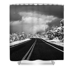 Arizona Snow Shower Curtain