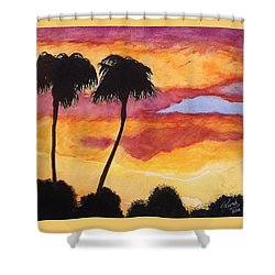 Shower Curtain featuring the painting Arizona Sunrise - Scottsdale 5 A.m. by Rand Swift
