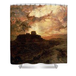 Arizona Sunset Shower Curtain by Thomas Moran