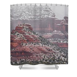 Arizona Winter Shower Curtain by Racheal Christian