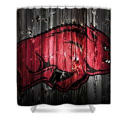 Arkansas Razorbacks 2a Shower Curtain