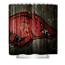 Arkansas Razorbacks 2b Shower Curtain