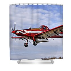 Arkansas Razorbacks Crop Duster Shower Curtain by Jason Politte
