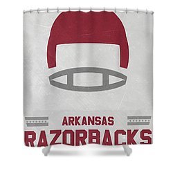 Wonderful Arkansas Razorbacks Vintage Football Art Shower Curtain