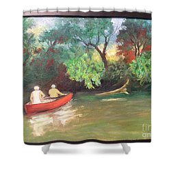 Arkansas River Float Shower Curtain by Marcia Dutton