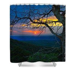 Arkansas Sunset Shower Curtain by John Roberts