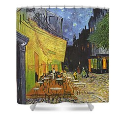 Arles Cafe Terrace At Night Shower Curtain