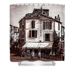 Arles, France, In Sepia Shower Curtain