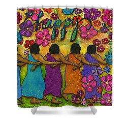 Arm In Arm - The Strongest Chain Shower Curtain by Angela L Walker