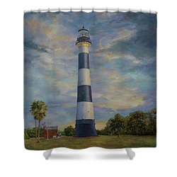 Armadillo And Lighthouse Shower Curtain