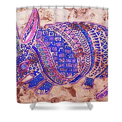 Shower Curtain featuring the painting Armadillo by J- J- Espinoza