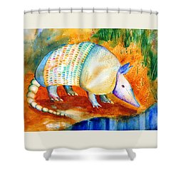 Armadillo Reflections Shower Curtain by Carlin Blahnik