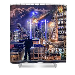 Shower Curtain featuring the photograph Armageddon Detroit by Nicholas Grunas