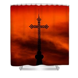 Armageddon The Wrath Of Hurricane Irma Shower Curtain