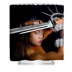 Armed And Dangerous Shower Curtain by Rikk Flohr