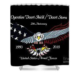 Armed Forces Desert Storm Shower Curtain by Bill Richards