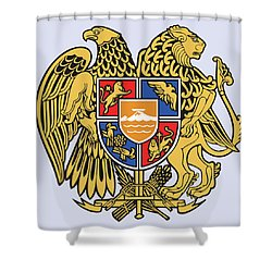 Shower Curtain featuring the drawing Armenia Coat Of Arms by Movie Poster Prints