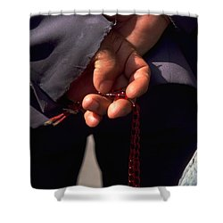 Armenian Prayer Beads Shower Curtain