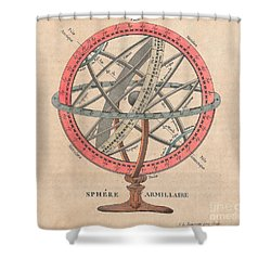 Armillary Sphere  Shower Curtain