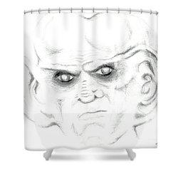 Armin Shower Curtain by Kim Sy Ok