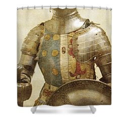 Armor Hot Dog Shower Curtain by Kevin  Sherf