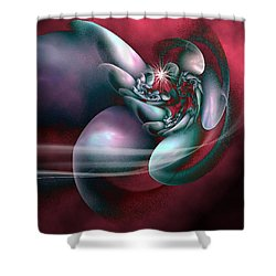 Shower Curtain featuring the digital art Arms Of Inspiration by Holly Ethan