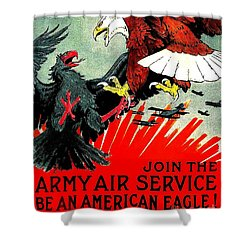 Army Air Service Recruitment Poster 1918 Shower Curtain