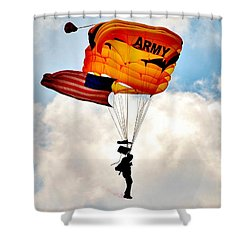 Army Paratrooper 2 Shower Curtain